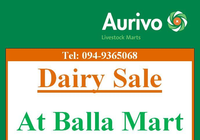 Dairy Sale At Balla Mart - February/March/April